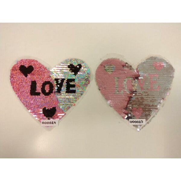 forgóflitteres aplikáció /ezüst szív