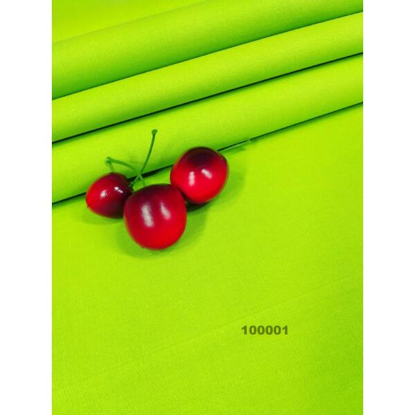 egyszínű pamutvászon /kiwi