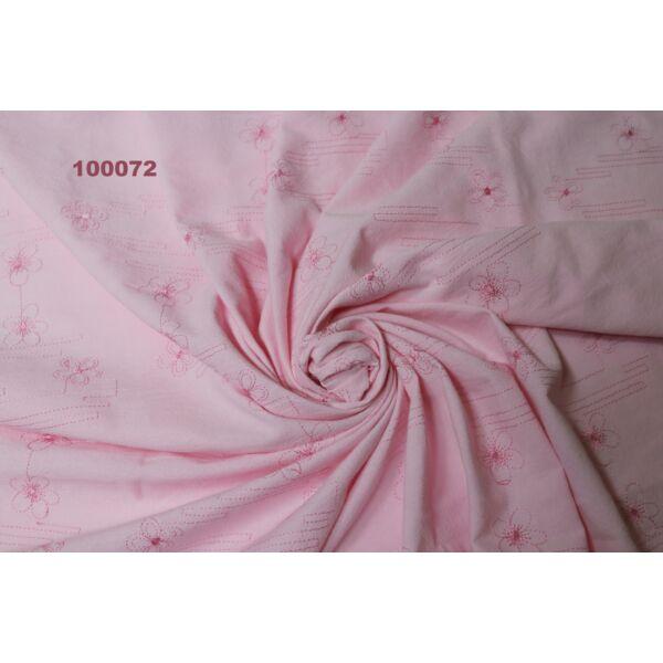 Hawaii vászon /hímzett /rózsaszín