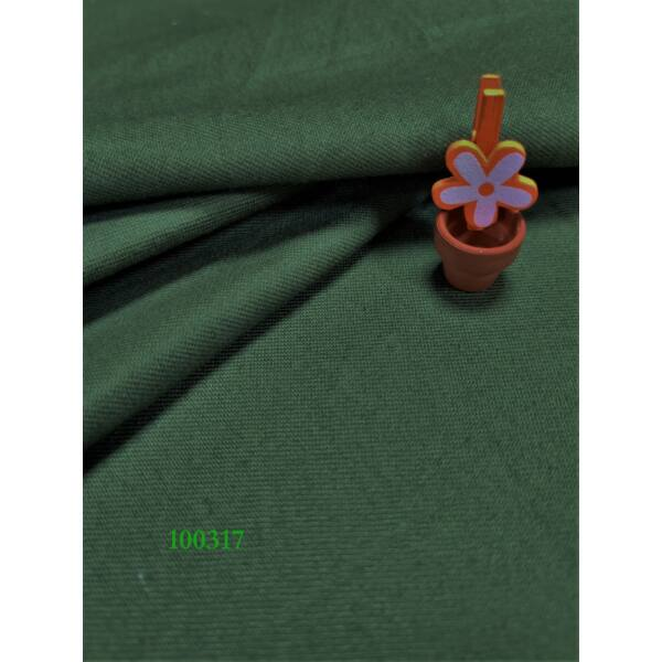 egyszínű vastag vászon /twill /közép zöld