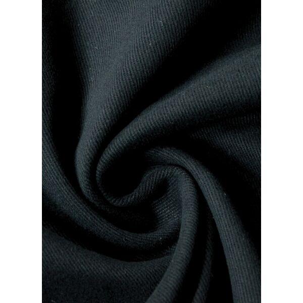 egyszínű vastag vászon /csiszolt twill /fekete
