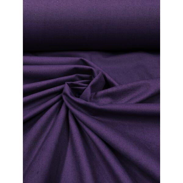 egyszínű vastag vászon /canvas / padlizsán lila
