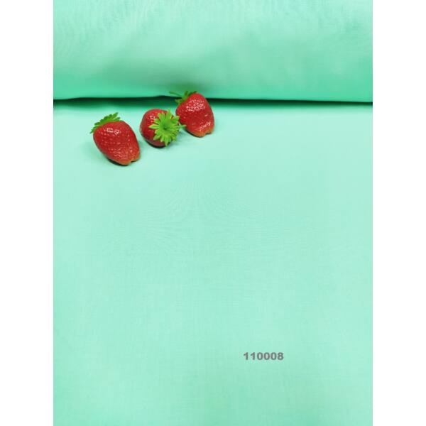 egyszínű pamutvászon /menta zöld