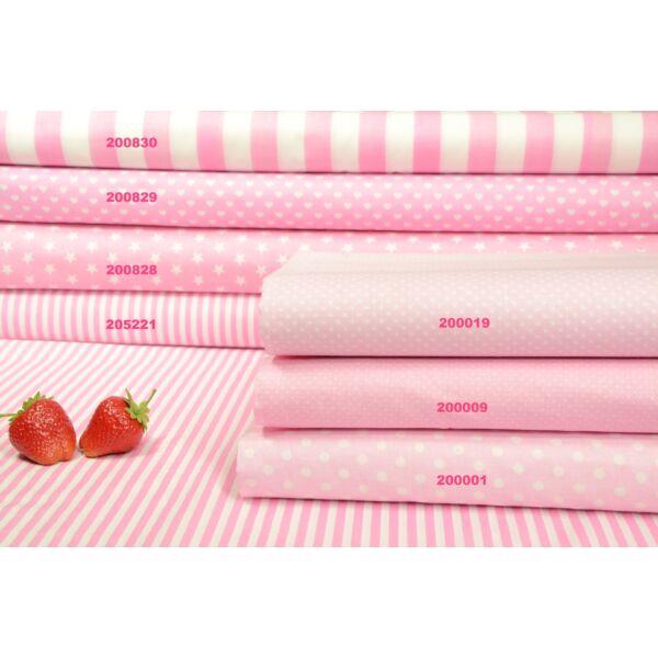 Vászon rózsaszín-fehér mintás