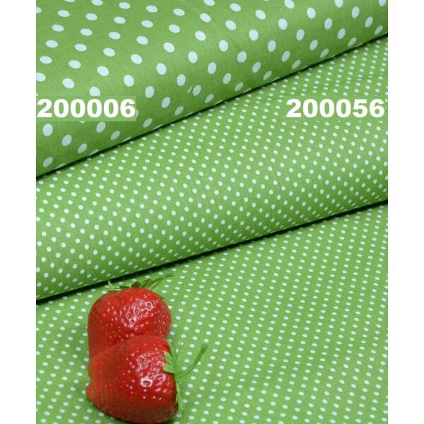 mintás vászon /pöttyös /zöld