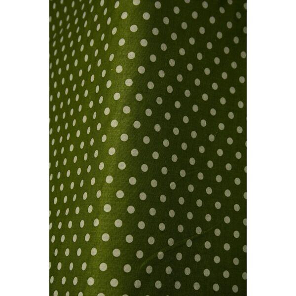 mintás pamutvászon /zöld-fehér 6mm