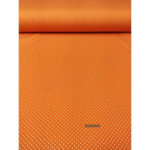mintás pamutvászon /pöttyös 2mm/ narancssárga
