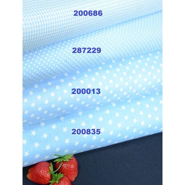 mintás vászon /világos kék