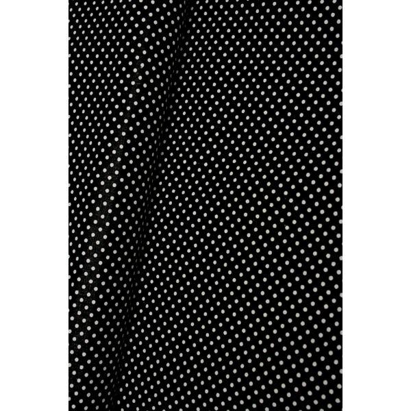 Mintás pamutvászon /fekete-fehér pöttyös 2mm