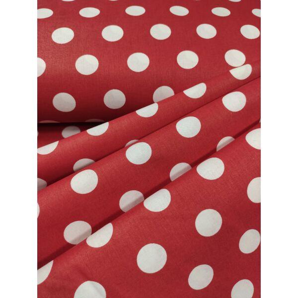 mintás pamutvászon /piros-fehér pöttyös 26mm