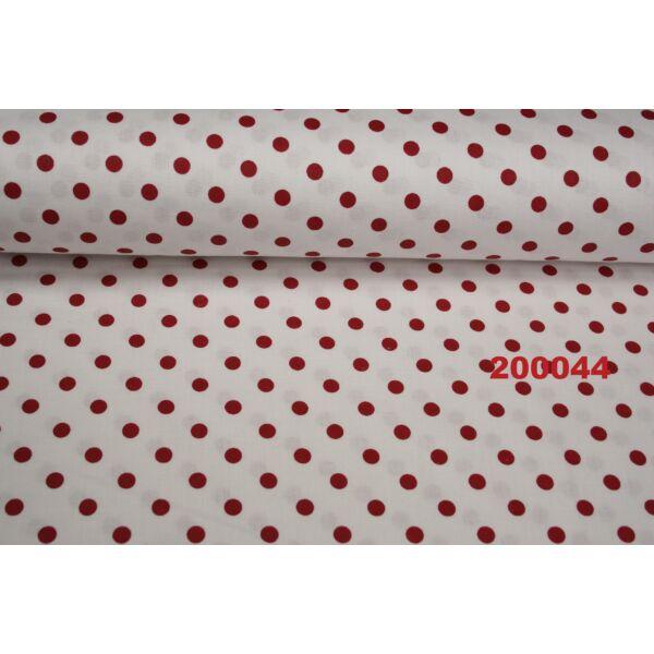 Vászon fehér-piros pöttyös 6mm