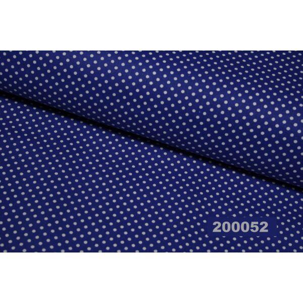 mintás pamutvászon /király kék-fehér pöttyös 2mm