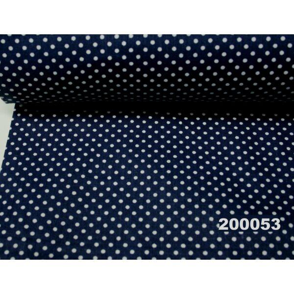 mintás pamutvászon /sötétkék-fehér pöttyös 2mm