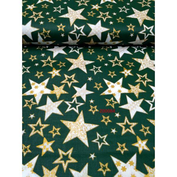 mintás vászon /arany csillagos (legnagyobb 7cm*7cm)/zöld