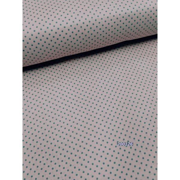 Mintás vászon /pöttyös 2mm /rózsaszín-szürke