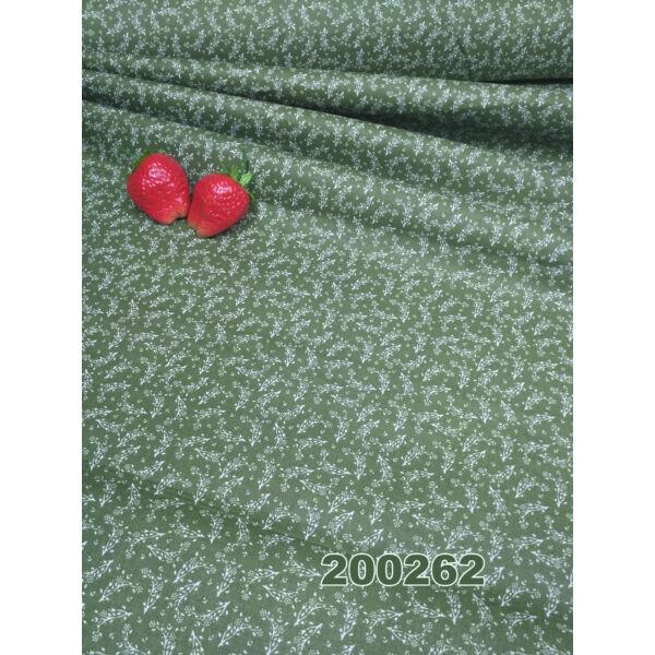mintás vászon /apró virágos /zöld