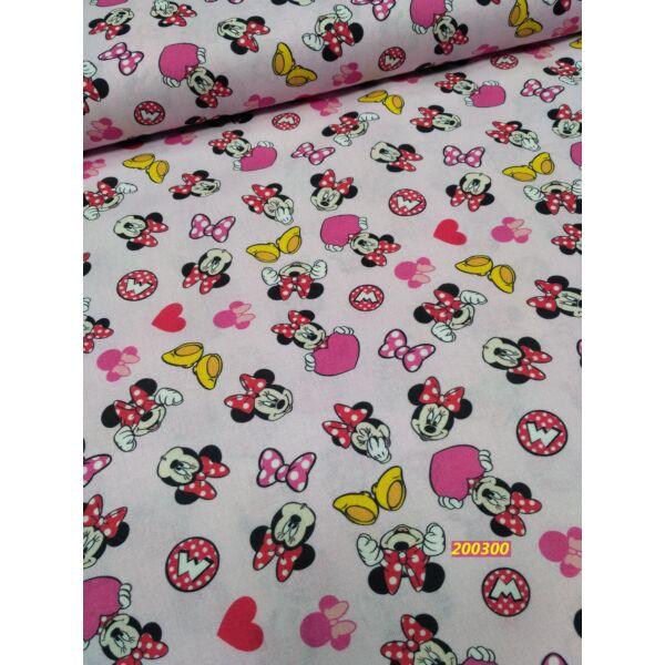 mintás vászon /Minnie egér /rózsaszín (sárga cipő 2,5x1,3)