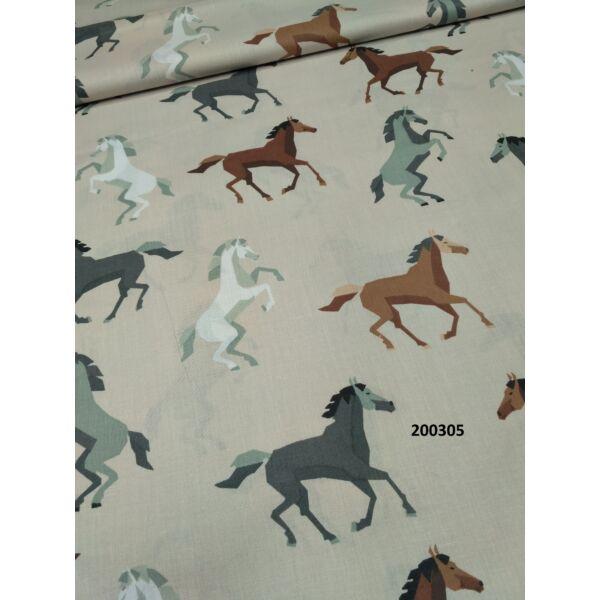 lovas mintás vászon (fehér ló 10cm*7cm)