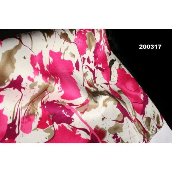 pamutszatén /absztrakt mintás /pink