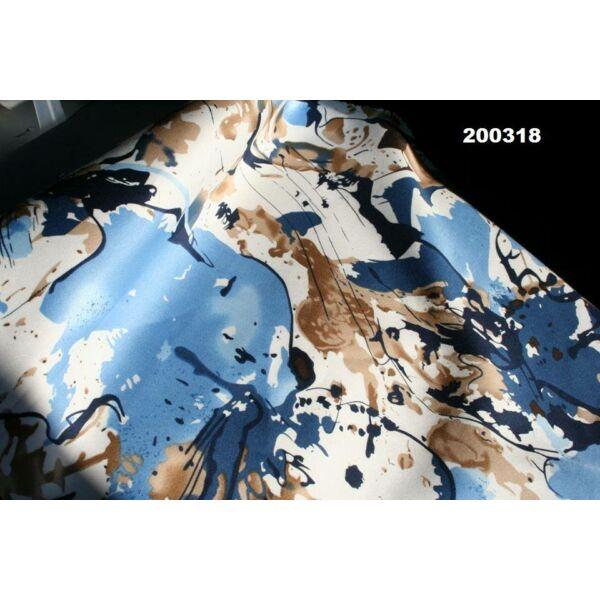 pamutszatén /absztrakt mintás / kék