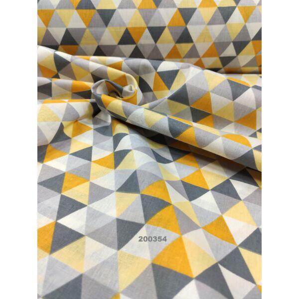 mintás pamutvászon /háromszögek ( oldala 2,6 cm) /sárga
