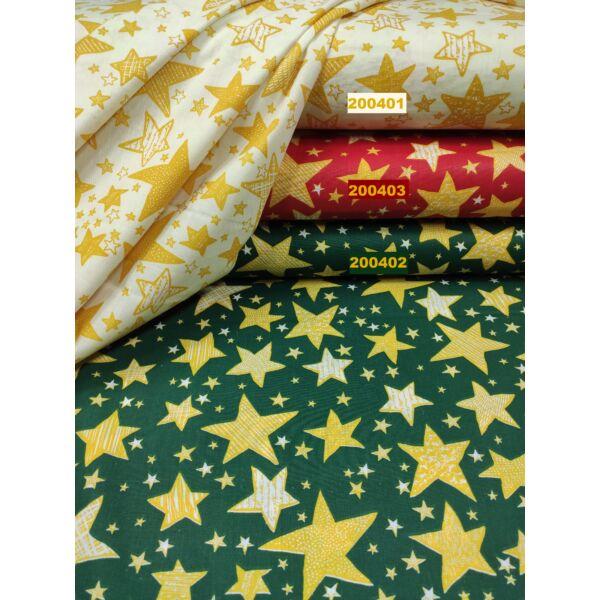 kevertszálas mintás vászon / sárga csillagok( írásos 4,5cm*4cm)