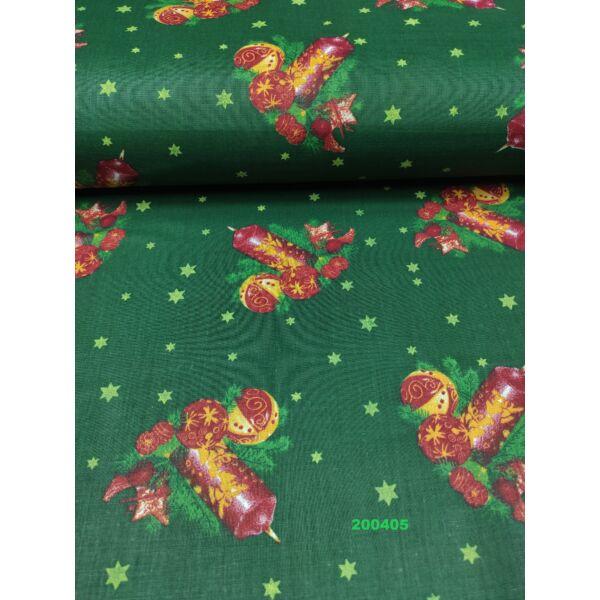 kevertszálas mintás vászon / asztaldíszek 8,5cm*7,5cm/ zöld