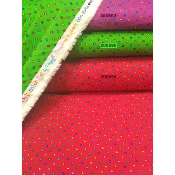 mintás vászon /színes pöttyös 2mm