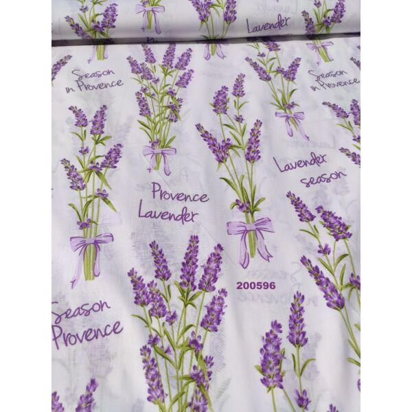 mintás pamutvászon /levendula Provence (felirat 7,5cm*4cm)