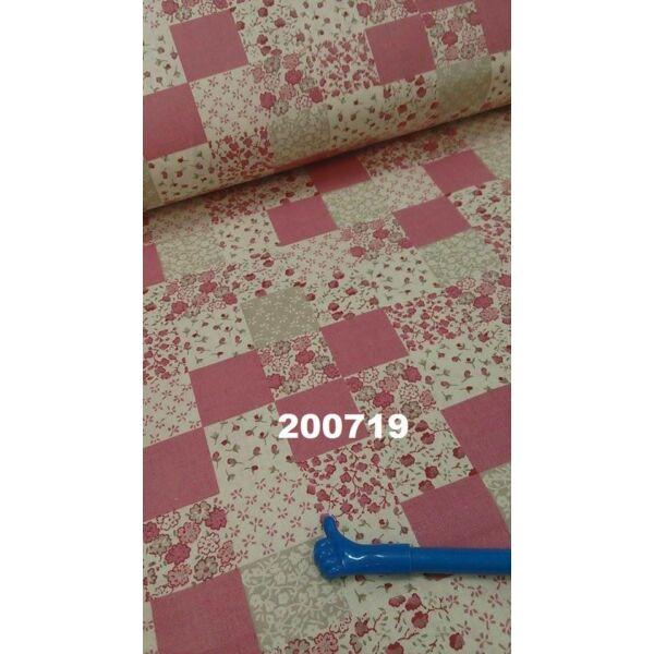 Vászon patchwork mintás rózsaszín alapon