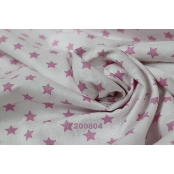 Vászon fehér-rózsaszín csillagos