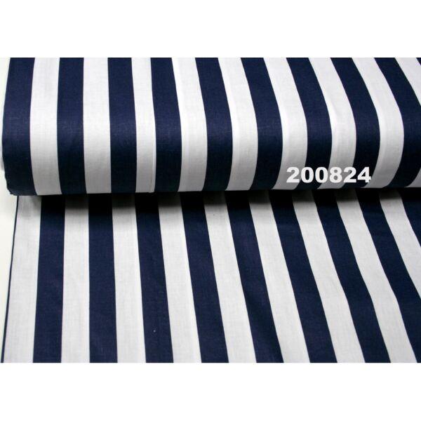 Vászon sötétkék-fehér csíkos 22mm