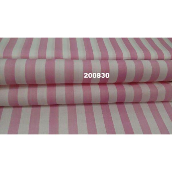 mintás pamutvászon /rózsaszín-fehér csíkos 22mm