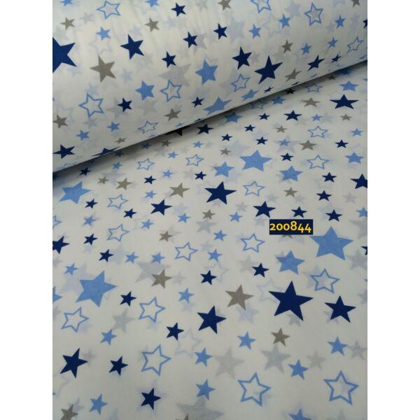 mintás vászon /kicsi-nagy csillagok /fehér(FÉLMÉTER)