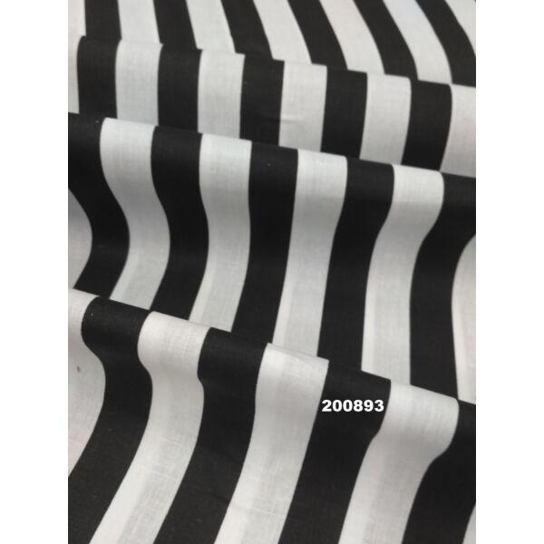 Vászon fekete-fehér csíkos 22mm