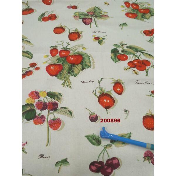 mintás vászon /gyümölcsök /fehér