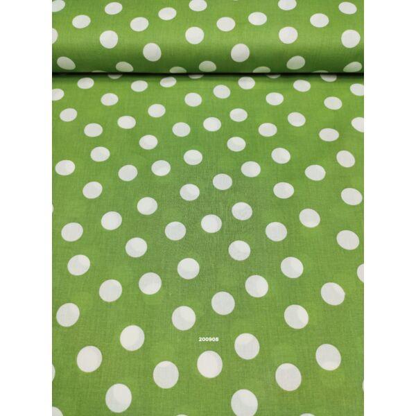 mintás pamutvászon /pötty 26mm/ zöld