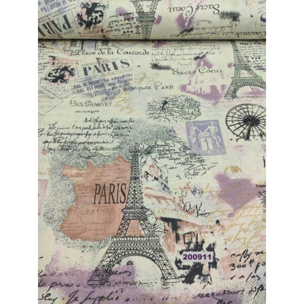 mintás pamutvászon /üdvözlet Párizsból