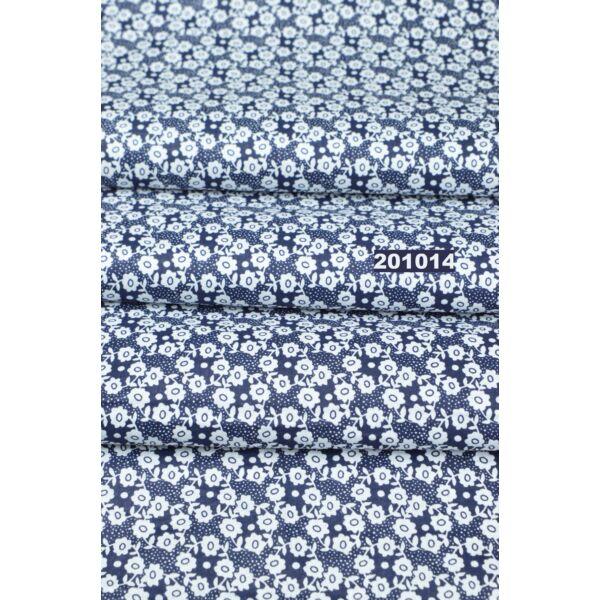 mintás pamutvászon /apró virágos /kék