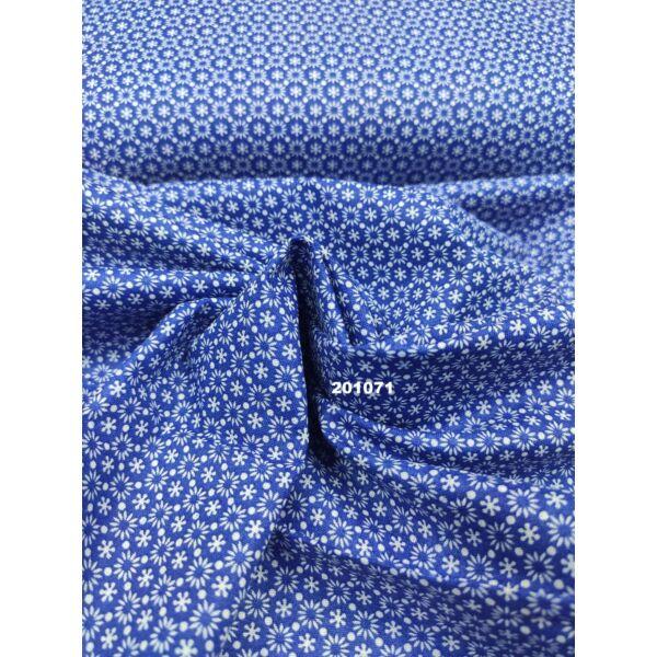 kevertszálas vászon/ apró virágos/ kék
