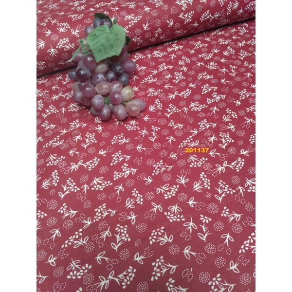 mintás pamutvászon /apró virágos /bordó