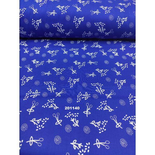 mintás vászon /apró virágos /kék