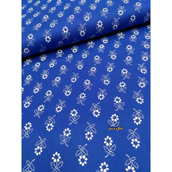 kékfestő mintás vászon / kék-reaktív