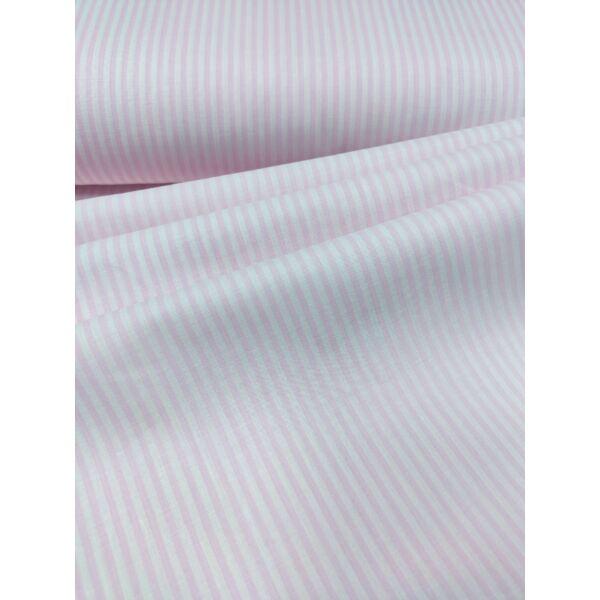 Vászon rózsaszín-fehér csíkos 3mm