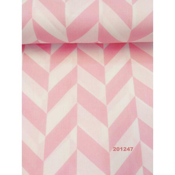 Vászon rózsaszín herringbone mintás