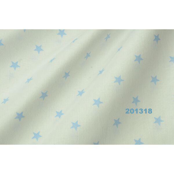 Vászon fehér-világos kék ritka csillagos