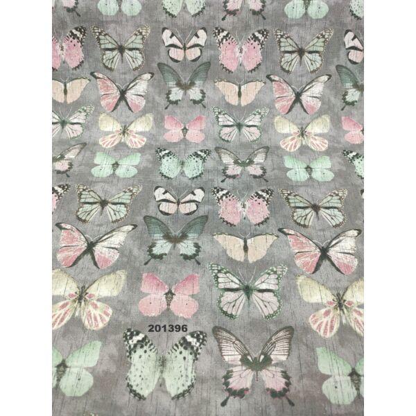 mintás LONETA vastag vászon /pasztell pillangók