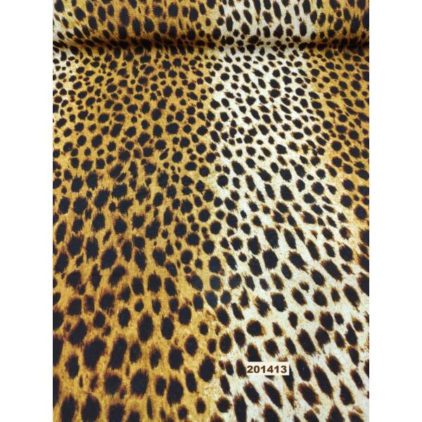 mintás LONETA vastag vászon 140cm széles/ leopárd mintás