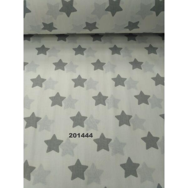 mintás vászon /csillagok /szürke