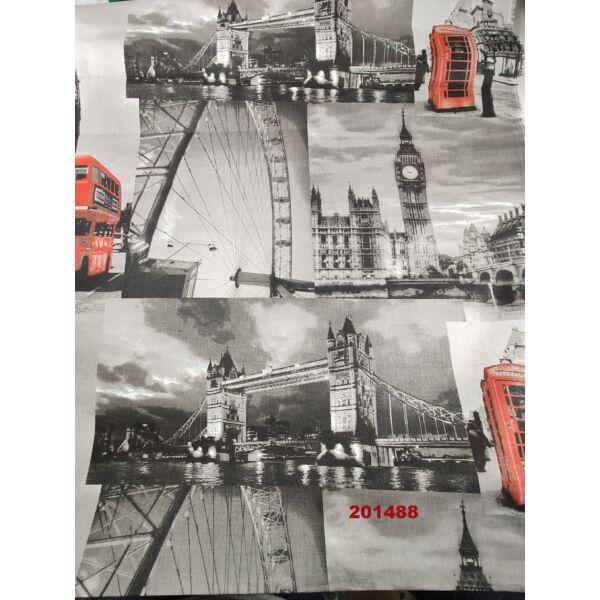mintás pamutvászon /London fotók